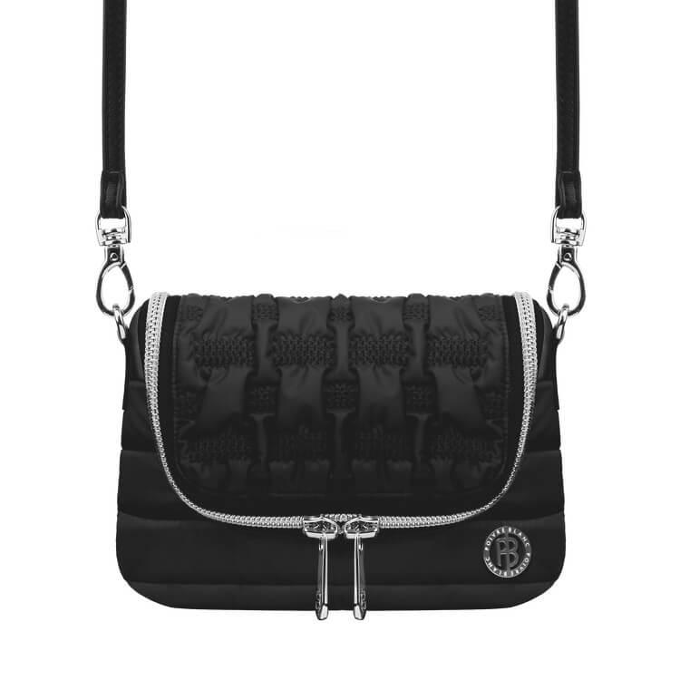 An image of Poivre Blanc Shoulder Ski Bag - Black - One Size, BLACK
