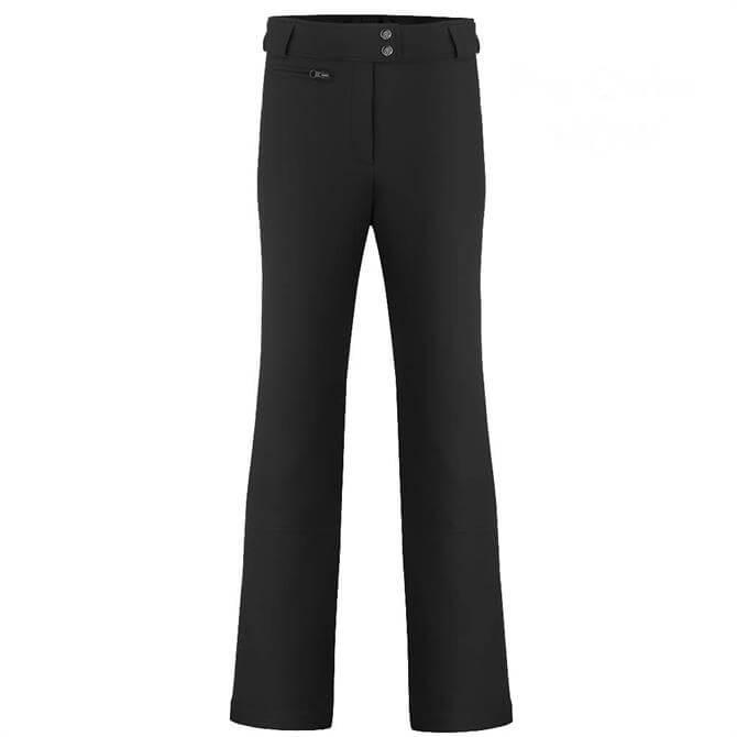 Poivre Blanc Women's Softshell Ski Pants - Black