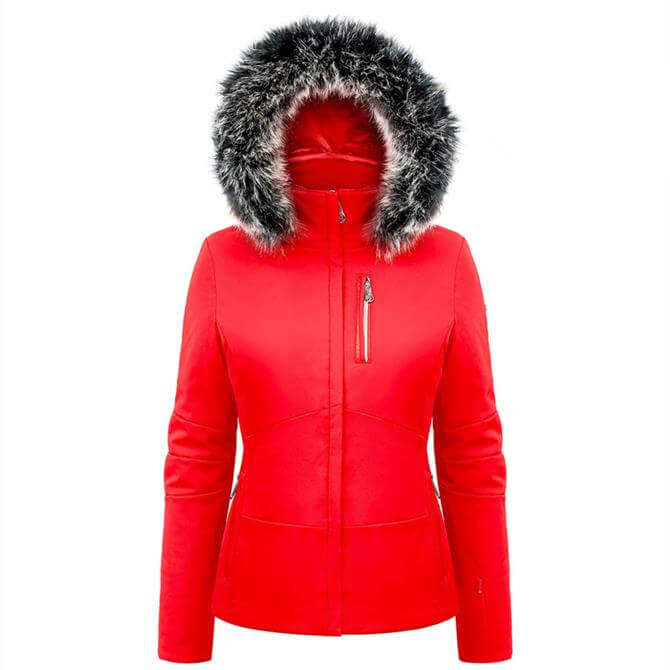 Poivre Blanc Women's Stretch Faux Fur Ski Jacket