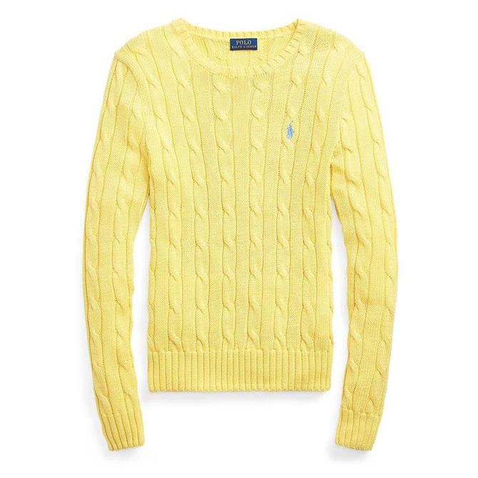 Polo Ralph Lauren Cable-Knit Yellow Cotton Jumper