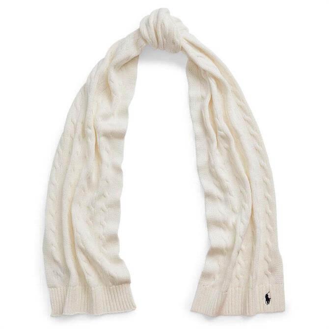 Polo Ralph Lauren Cable-Knit Cotton Scarf