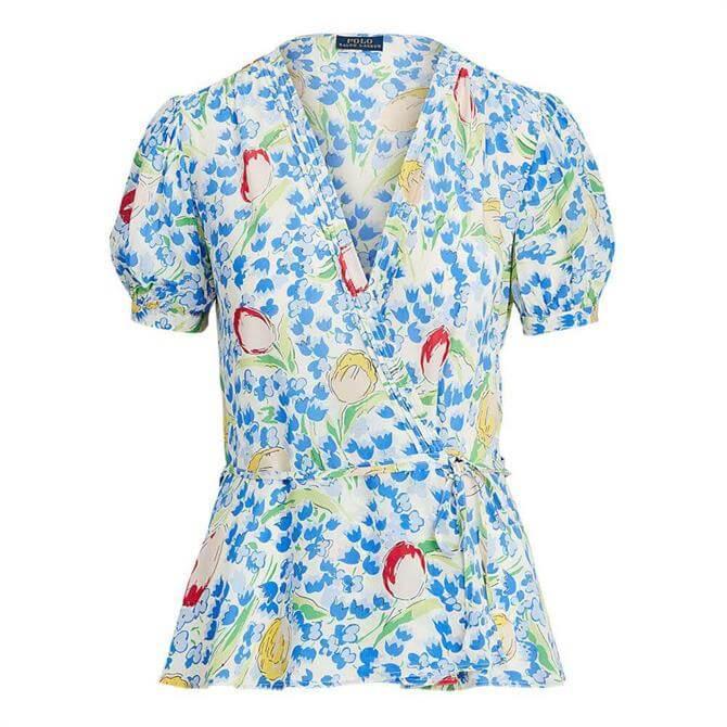 Polo Ralph Lauren Floral-Print Wrap Blouse