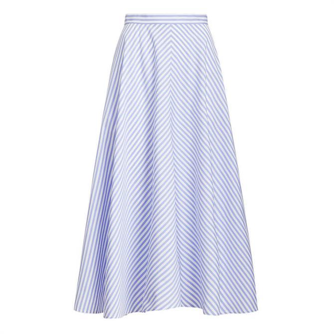Polo Ralph Lauren Striped Cotton A-Line Skirt
