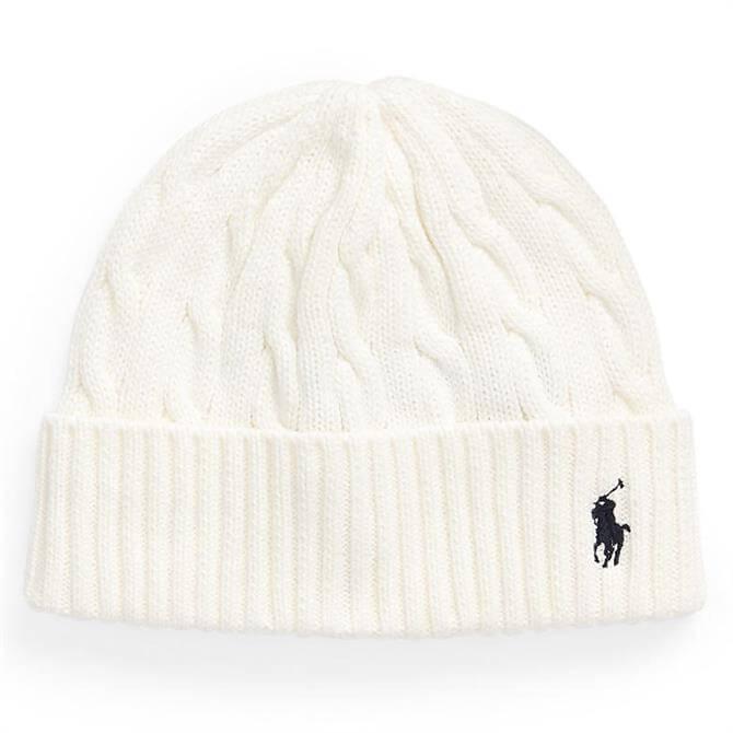 Polo Ralph Lauren Cable-Knit Cotton Beanie
