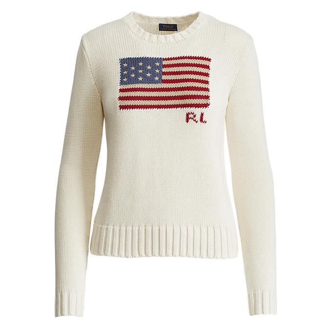 Polo Ralph Lauren Flag Cream Cotton Sweater