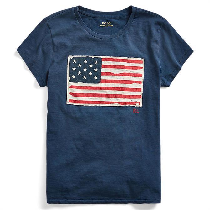 Polo Ralph Lauren Flag Jersey Graphic Royal Blue T-Shirt