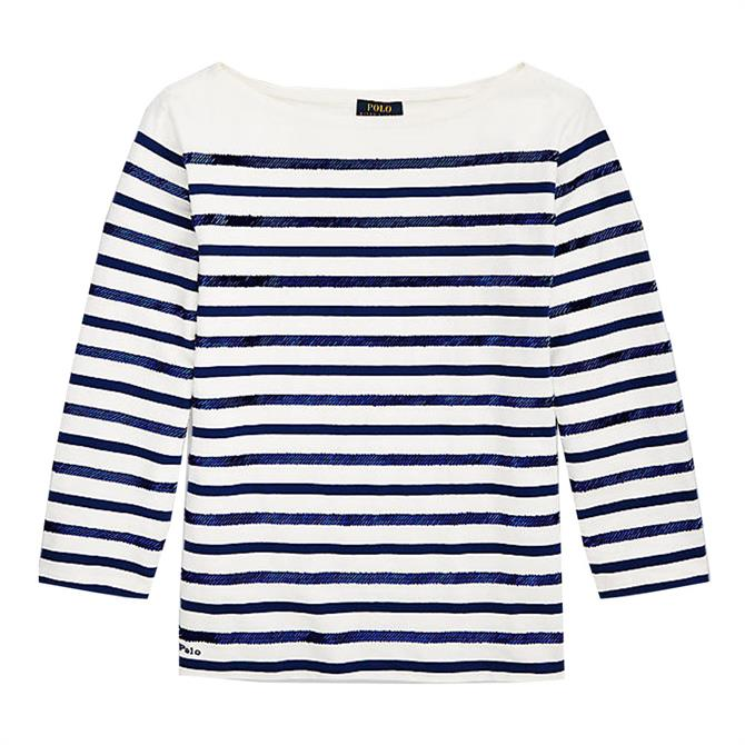 Polo Ralph Lauren Beaded Boatneck Shirt
