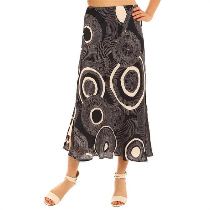 Pomodoro Circle Print Bias Skirt