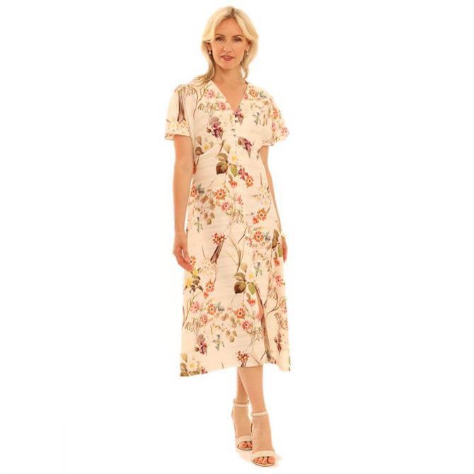 Pomodoro Kew Floral Midi Dress