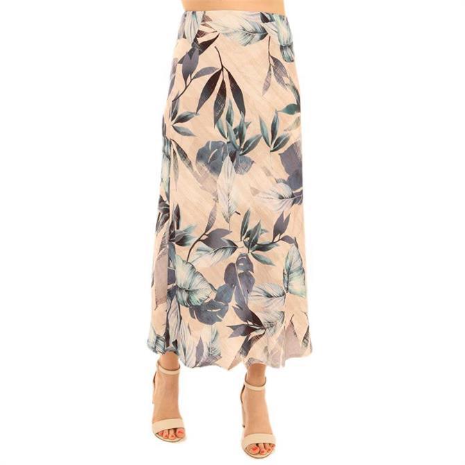 Pomodoro Palm Bias Skirt