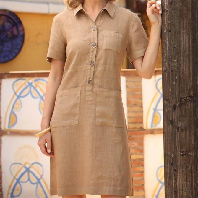 Pomodoro Safari Buttoned Dress