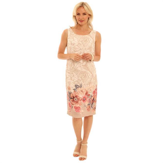 Pomodoro Watercolour Floral Shift Dress