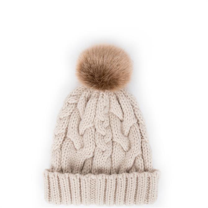 Powder Designs Charlotte Pom Pom Beanie Hat