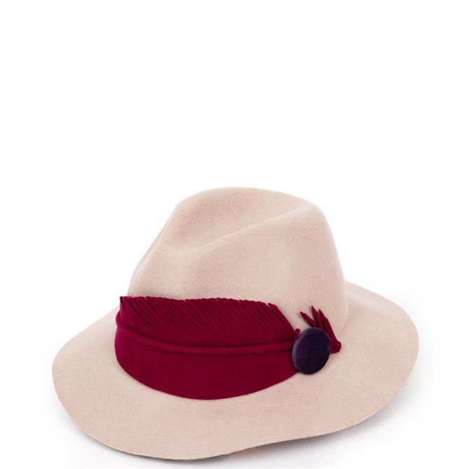 Powder Designs Felt Feather Fedora Hat