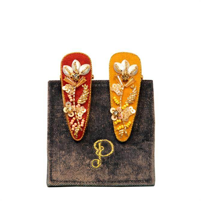 Powder Designs Set of 2 Jewelled Hairclips