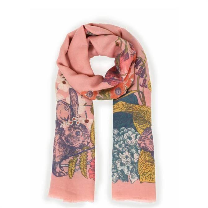 Powder Designs Countryside Animals Pink Scarf