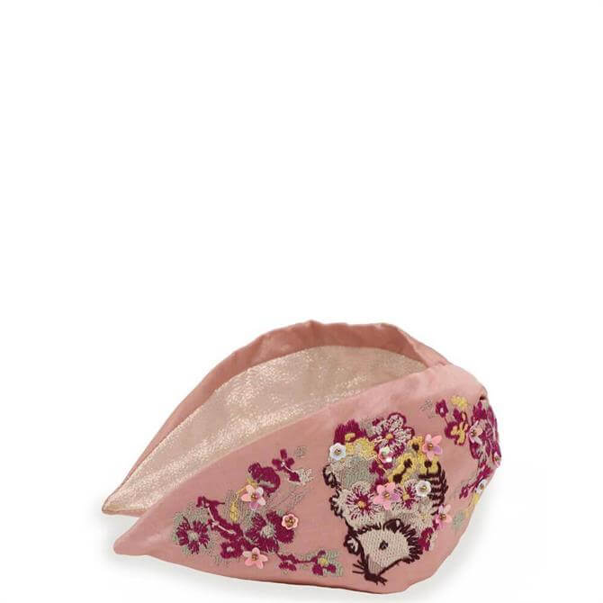 Powder Designs Pink Hedgehog Headband