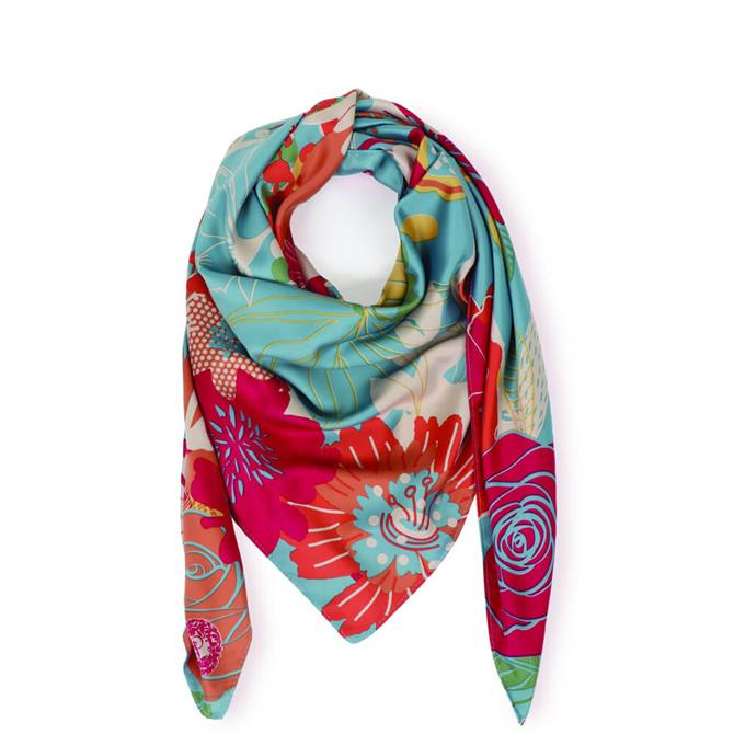 Powder Designs Modern Floral Satin Square Scarf