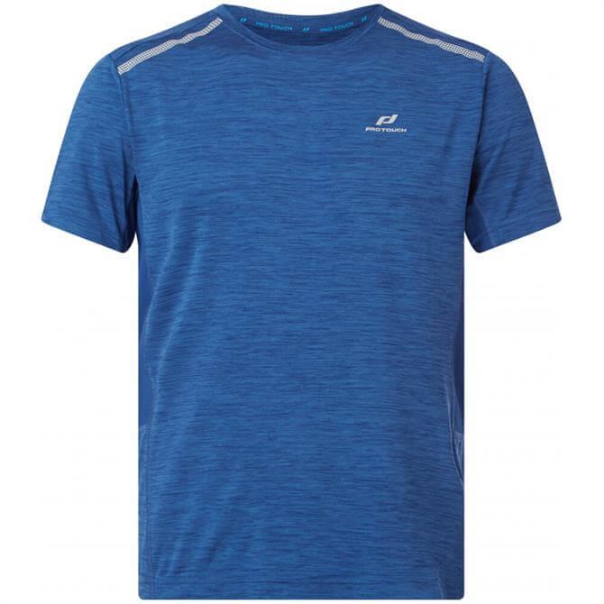 Pro Touch Mens Aino UX Running Tshirt Blue   BMC Sports