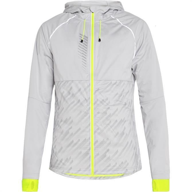 Pro Touch Myco Unisex Running Jacket - White/Yellow