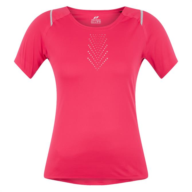 Pro Touch Ondala Women's Running Top - Red/Silver