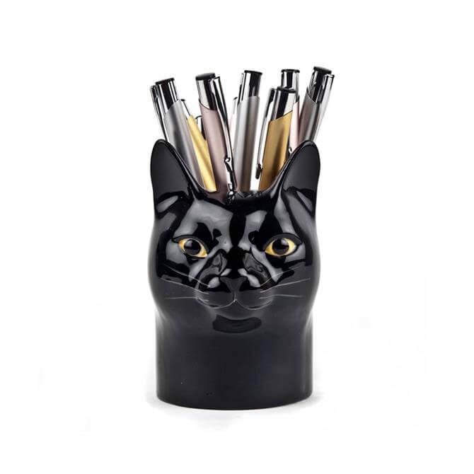 Quail Moggy Pencil Pot