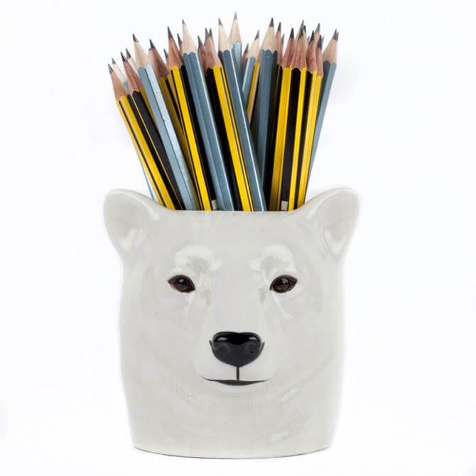Quail Polar Bear Pencil Pot