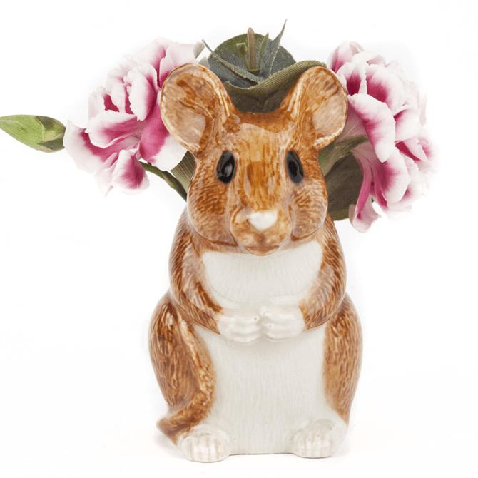Quail Wood Mouse Bud Vase