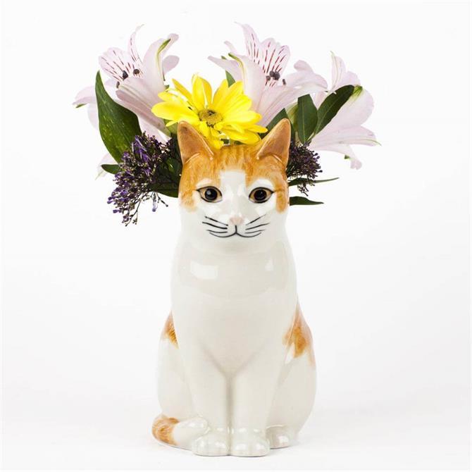 Quail Moggy Flower Vase Small