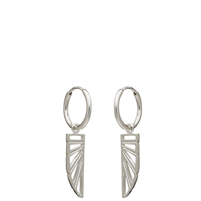 Rachel Jackson London Wings of Freedom Charm Hoop Earrings