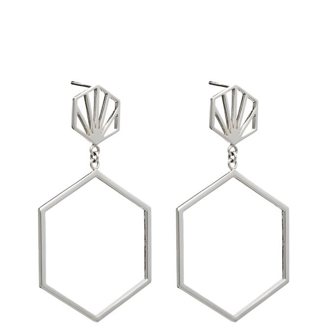 Rachel Jackson London Front Facing Hexagon Hoop Earrings
