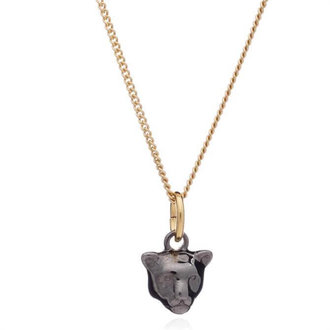 Rachel Jackson Mini Panther Black & Gold Necklace