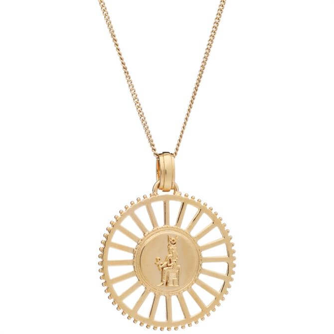 Rachel Jackson London Queen of Revelry Gold Medallion Necklace