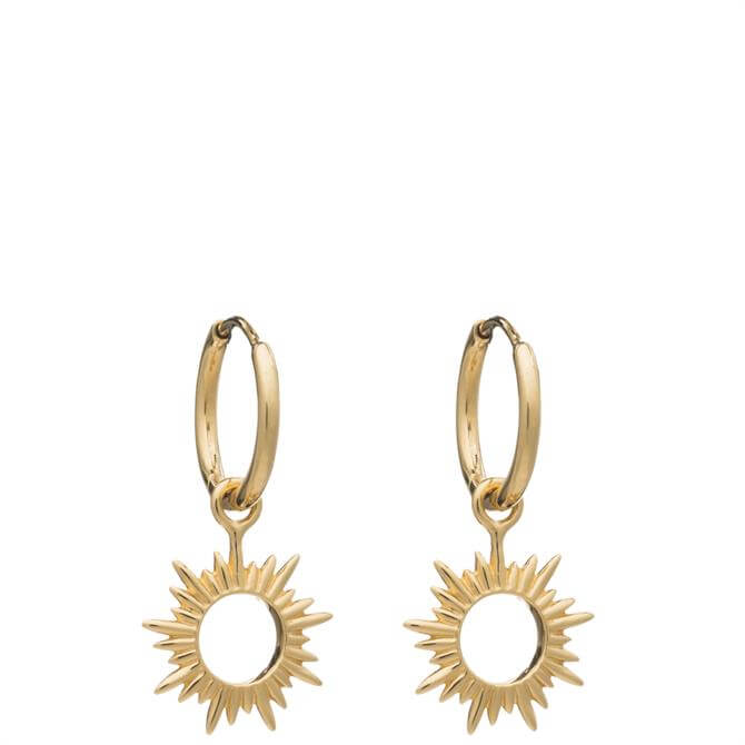 Rachel Jackson London Eternal Sun Mini Hoops Earrings