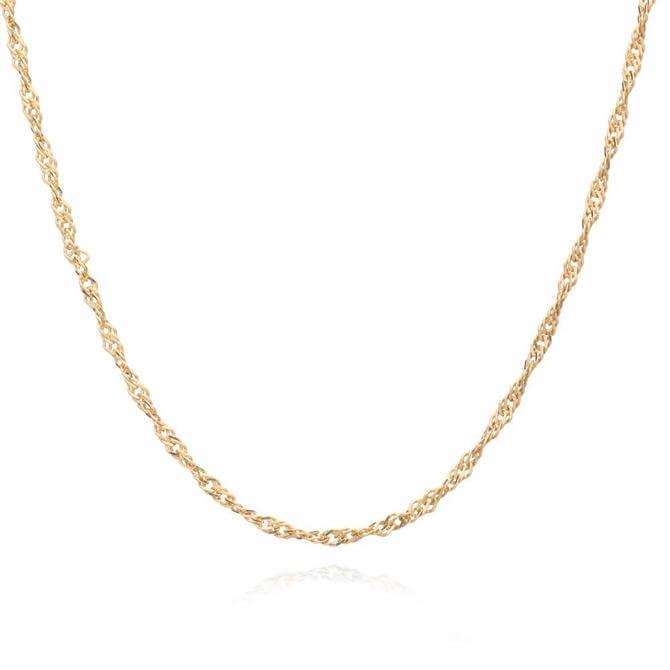 Rachel Jackson London Mid Length Sparkle Twist Chain Necklace