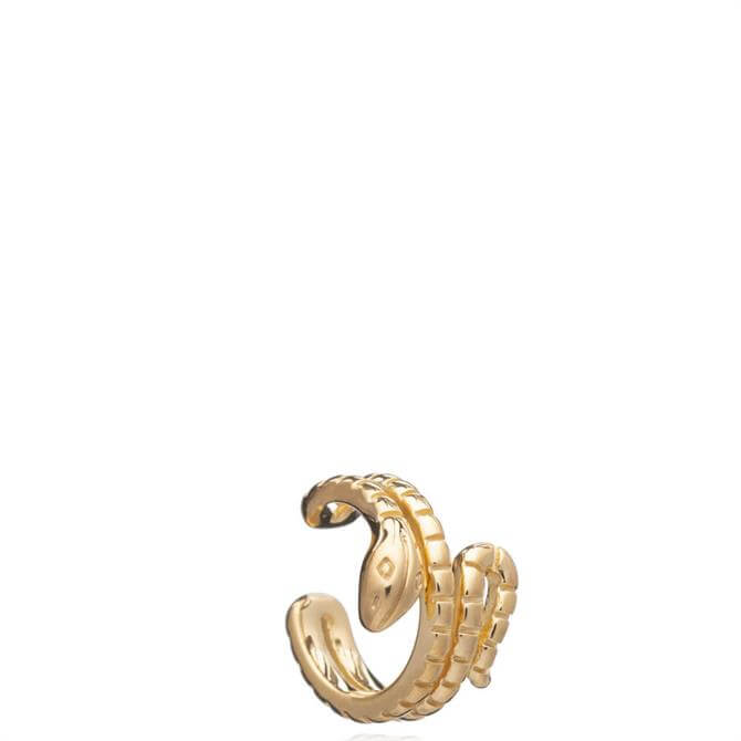 Rachel Jackson London Gold Statement Snake Earring Cuff