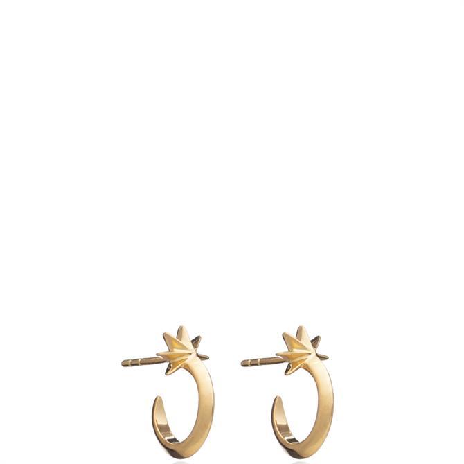 Rachel Jackson London Mini Shooting Star Hoop Earrings