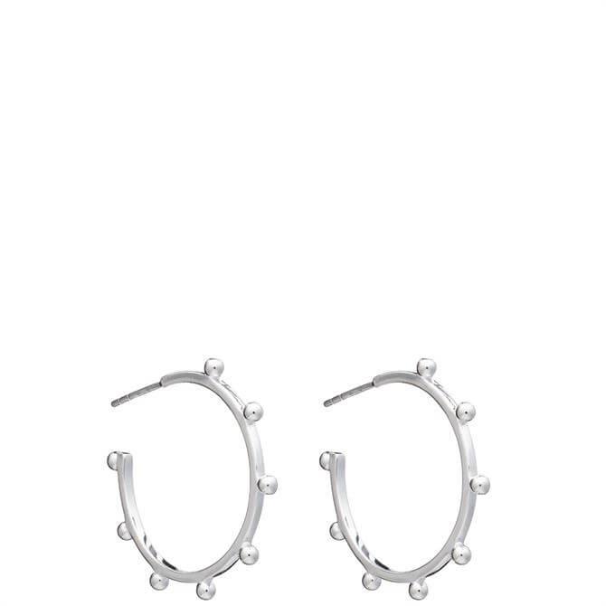 Rachel Jackson London Silver Large Punk Hoop Earrings