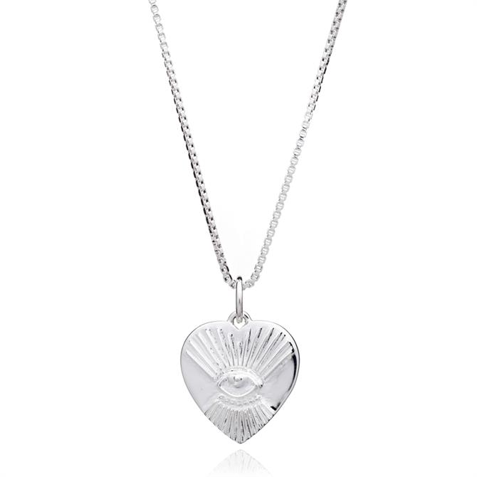 Rachel Jackson London 'Protective' Tattoo Heart Necklace