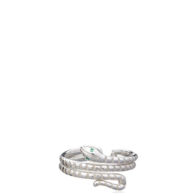 Rachel Jackson London 'Transform' Emerald Snake Adjustable Ring