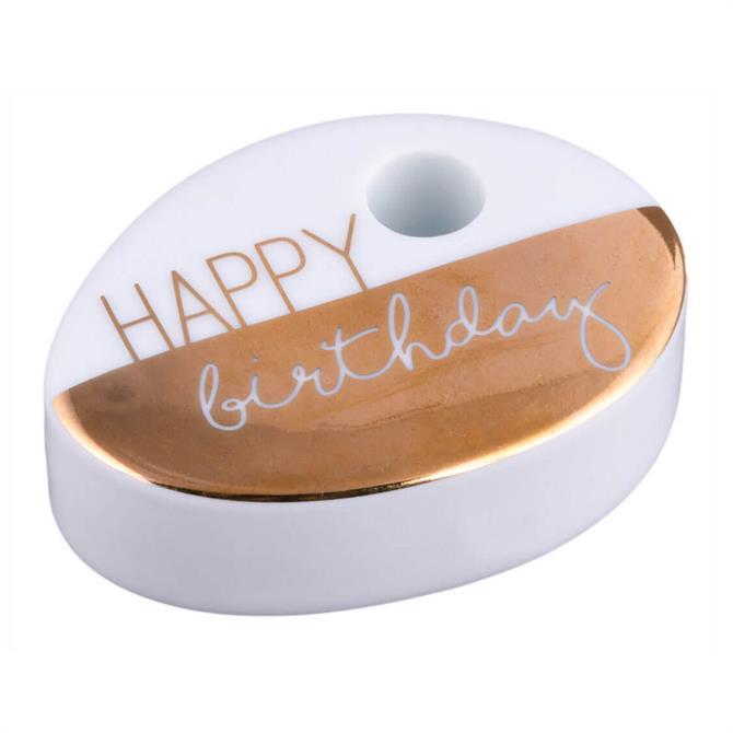 Rader Happy Birthday Mini Candle Holder