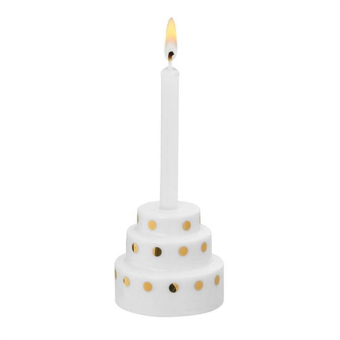 Rader Wish Cake Candle Gold Spots
