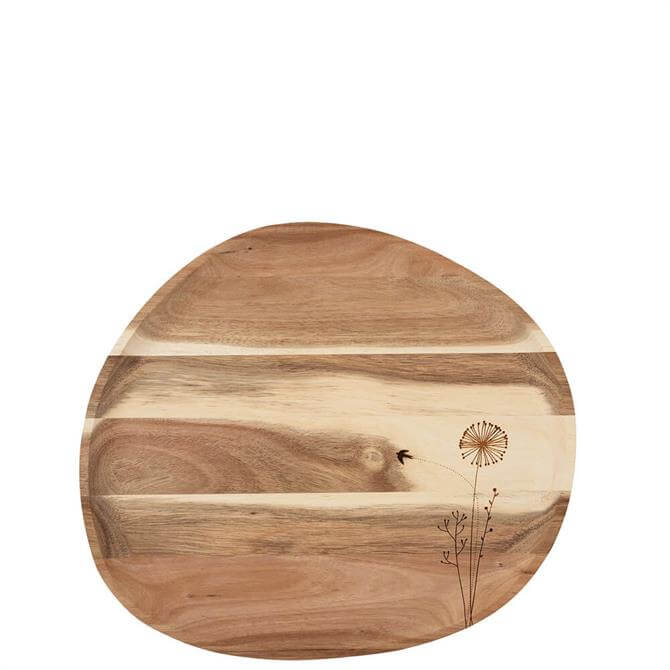 Rader Wunderland 'Dandelion' Acacia Wood Tray