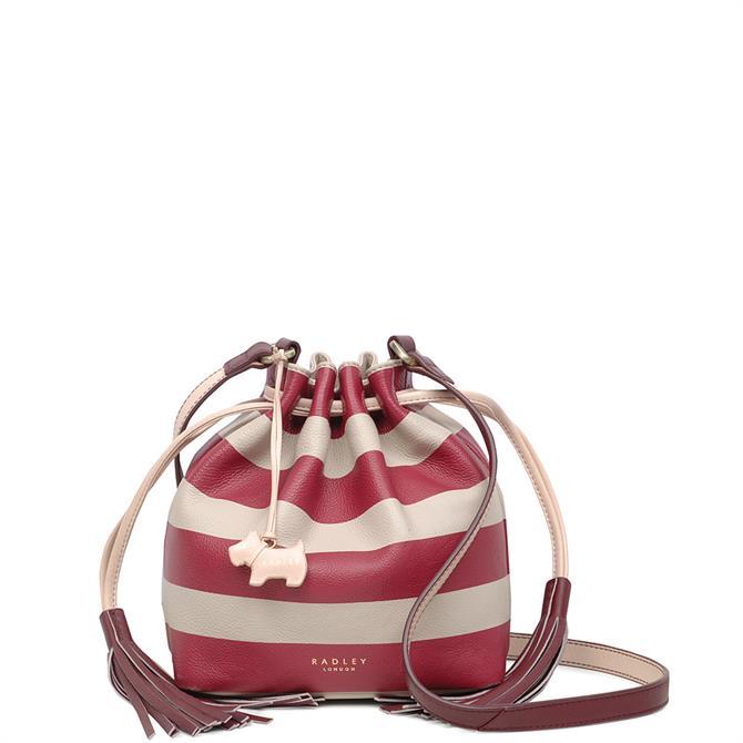 Radley Berry Nice Striped Small Drawstring Cross Body Bag