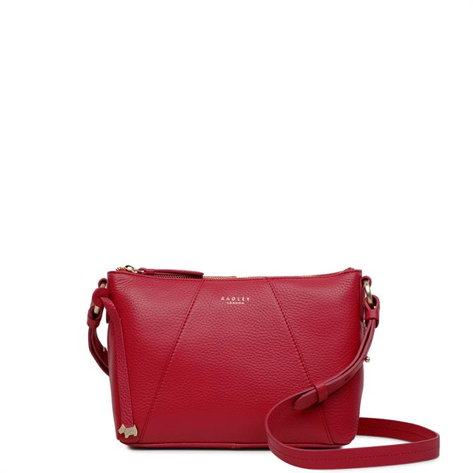 Radley Wood Street Raspberry Pink Medium Zip Top Cross Body Bag