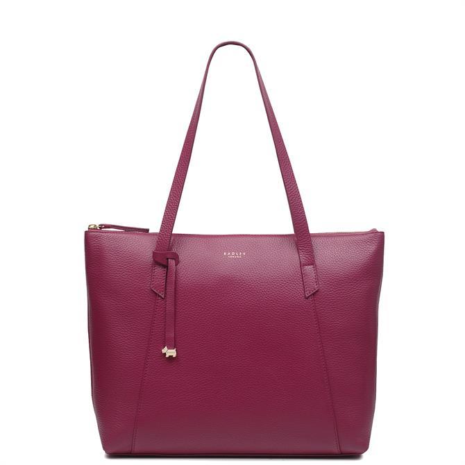 Radley Wood Street Raspberry Pink Large Zip Top Tote Bag