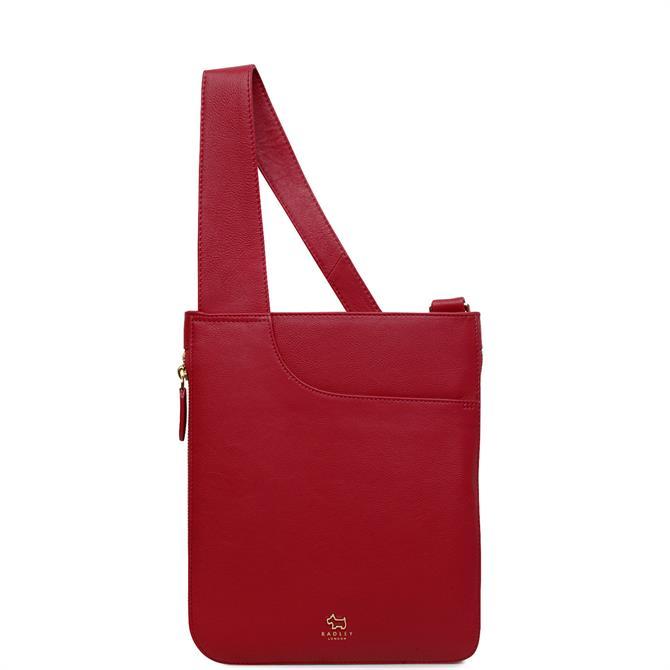 Radley Pockets Raspberry Pink Medium Zip Around Cross Body Bag