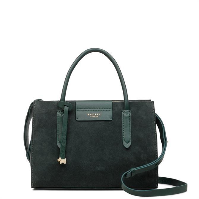 Radley Arlington Court Seaweed Suede Medium Zip Top Multiway Bag