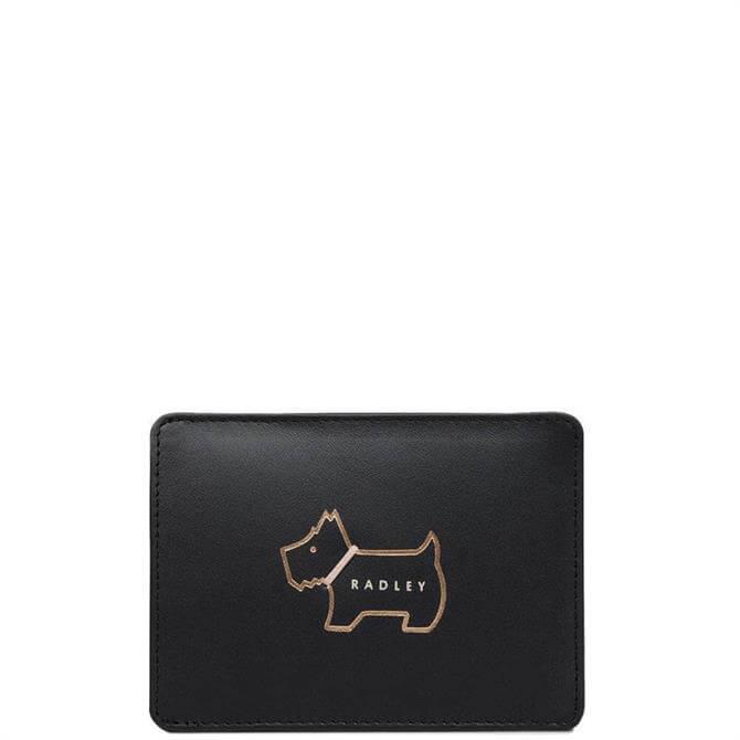 Radley Heritage Dog Outline Black Small Travelcard Holder