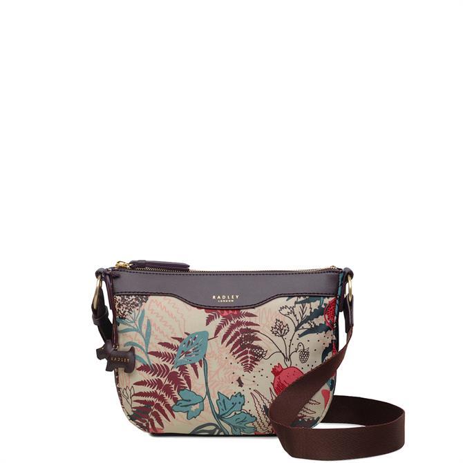 Radley Botanical Floral Small Zip Top Cross Body Bag